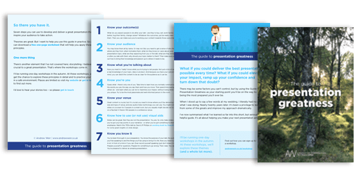 the guide to presentation greatness - use the form below to get the guide