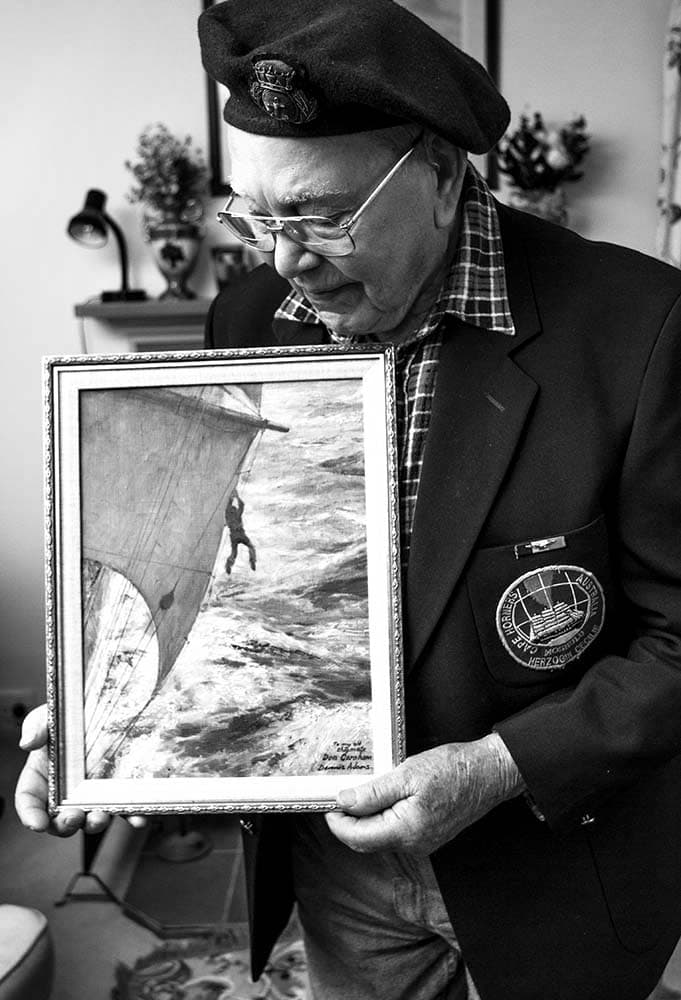 Portrait photography of a old sea dog