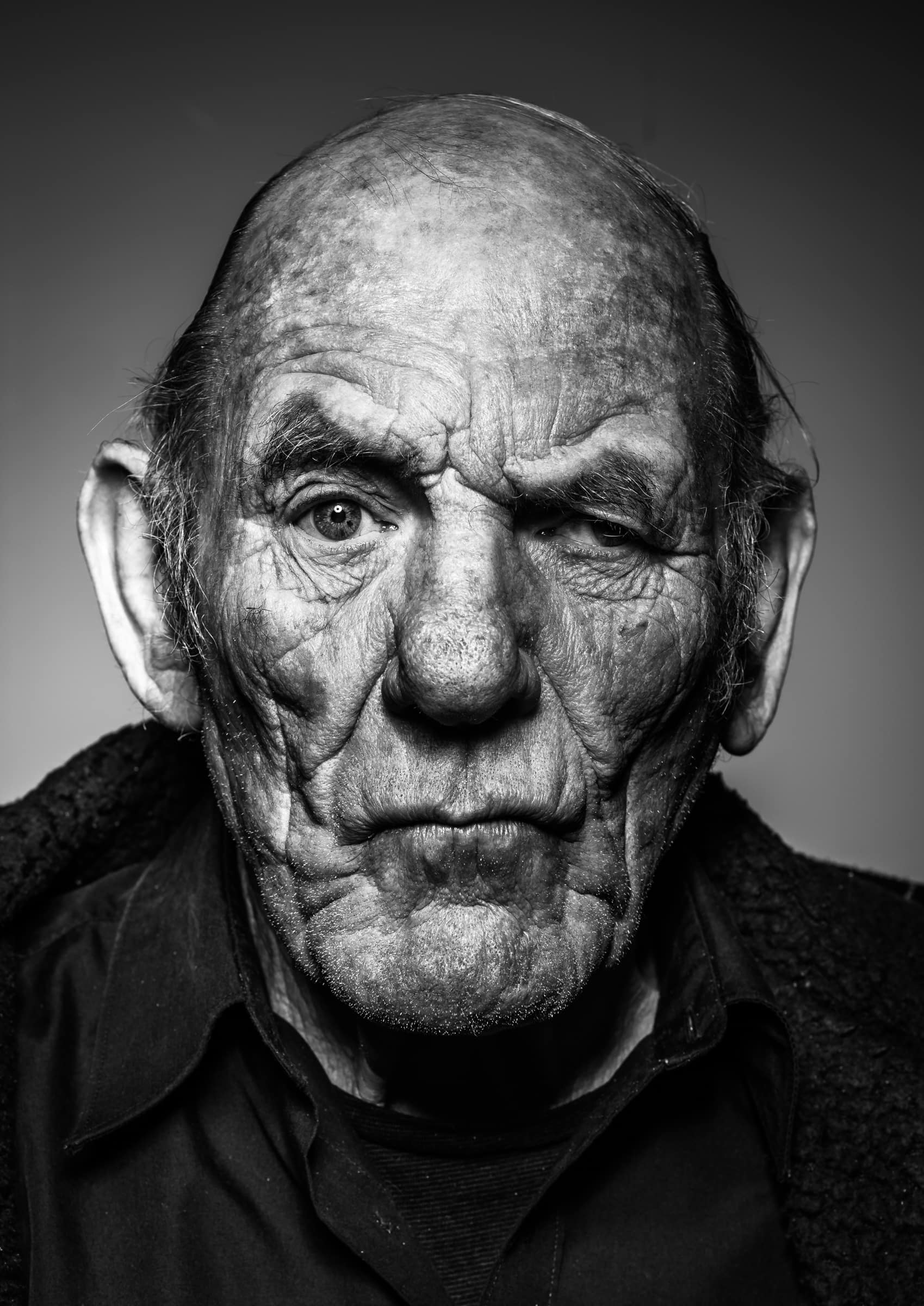 Portrait photography of an old face