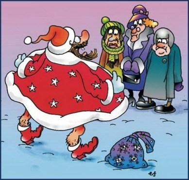 Дед Мороз-эксбиционист