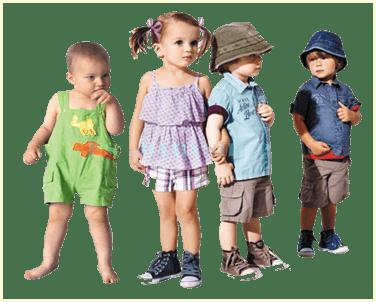 Детки в летней одежде
