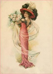 Дама с цветами