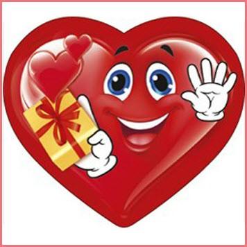 Смайлик сердце