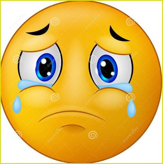 Смайлик плачет