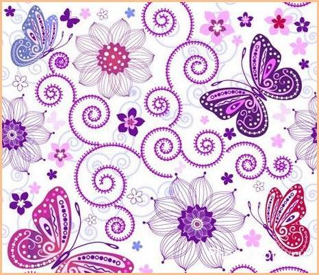 Узор с бабочками