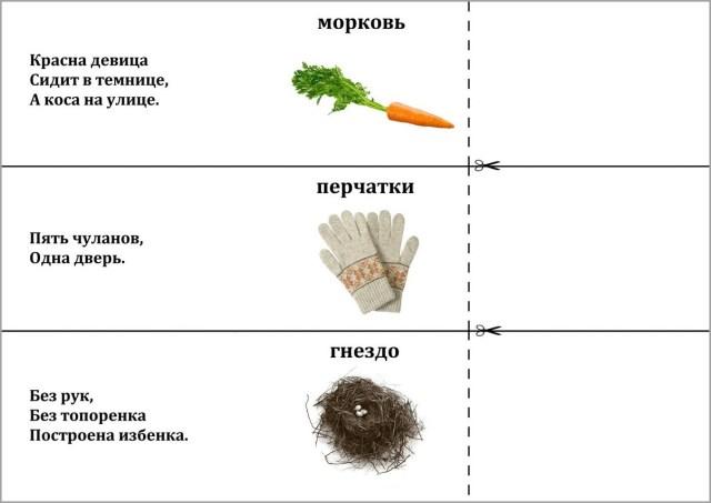 Загадка морковь