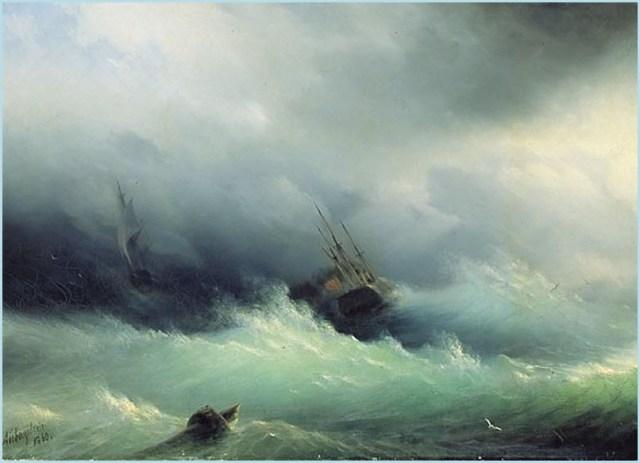 Бурное море