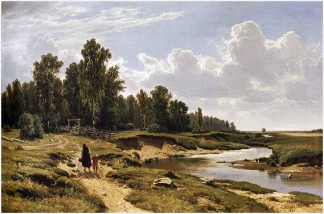 Речка в деревне фото