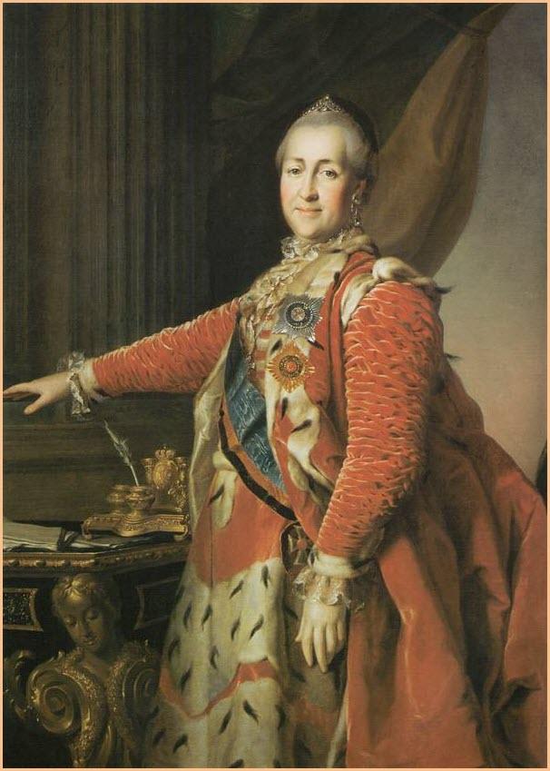 портрет екатерины 2
