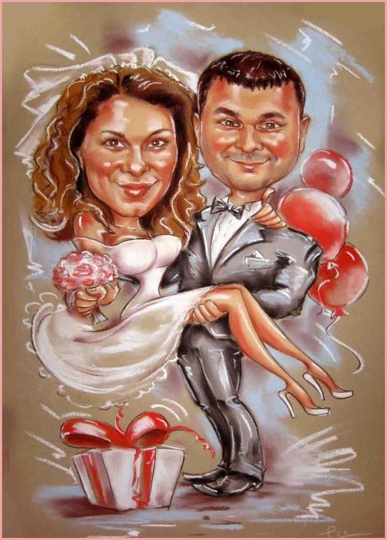 Шарж на свадьбу 2