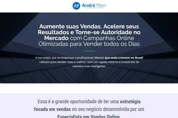 Anúncios no facebook levando as pessoas para uma página de vendas