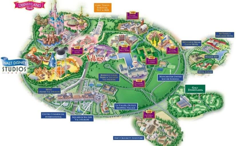 Mapa Complexo Disneyland Paris (Euro Disney)