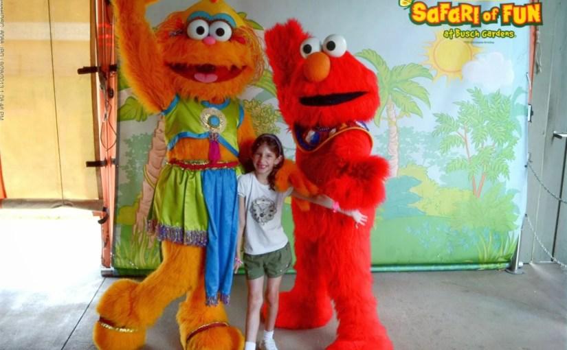 Almoço com personagens de Vila Sésamo no Busch Gardens