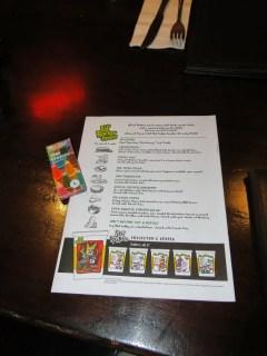 menu infantil Hard Rock Cafe