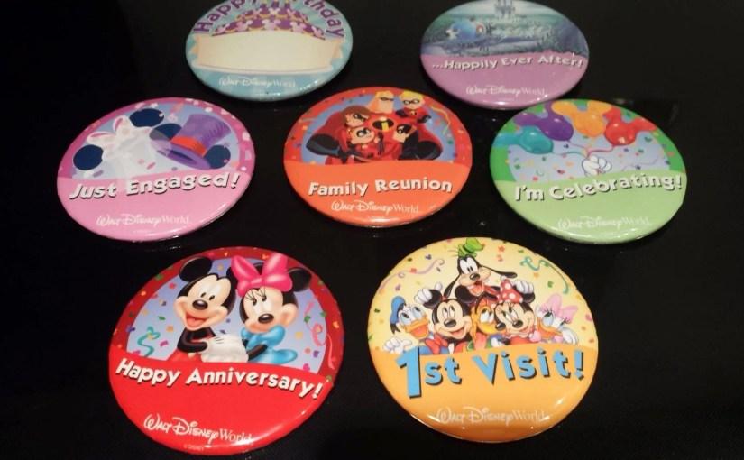 Buttons Comemorativos da Disney