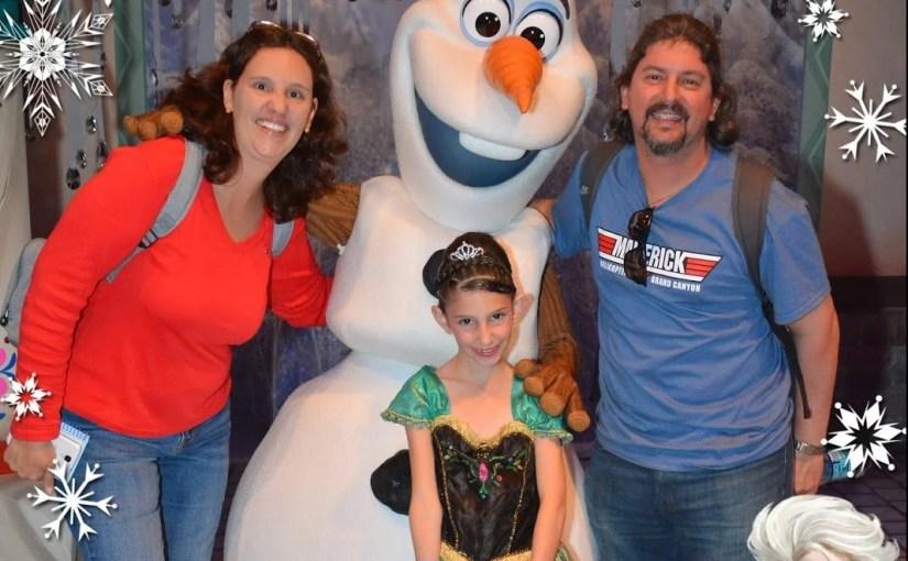 Programação Frozen na Disneyland