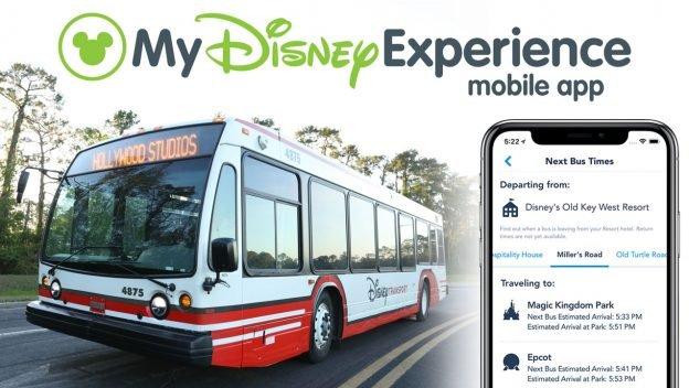 No app My Disney Experience você poderá monitorar os horários dos ônibus