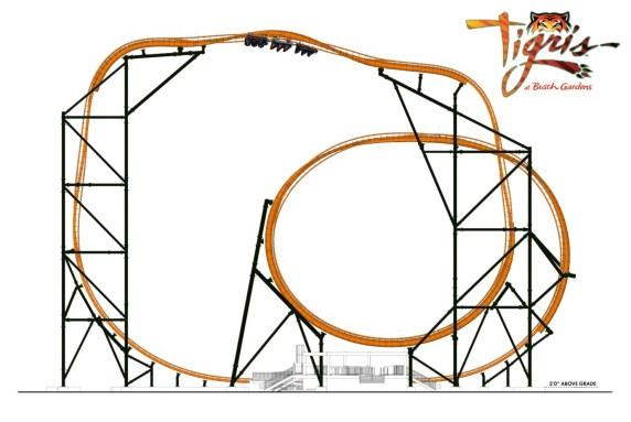 Tigris - Busch Gardens anuncia nova montanha-russa
