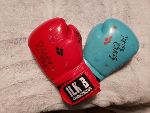 My I Love Kickboxing gloves