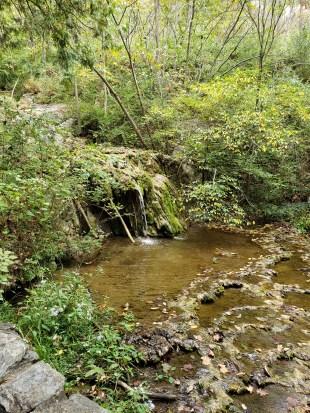 Natural waterfall near Natural Bridge, VA