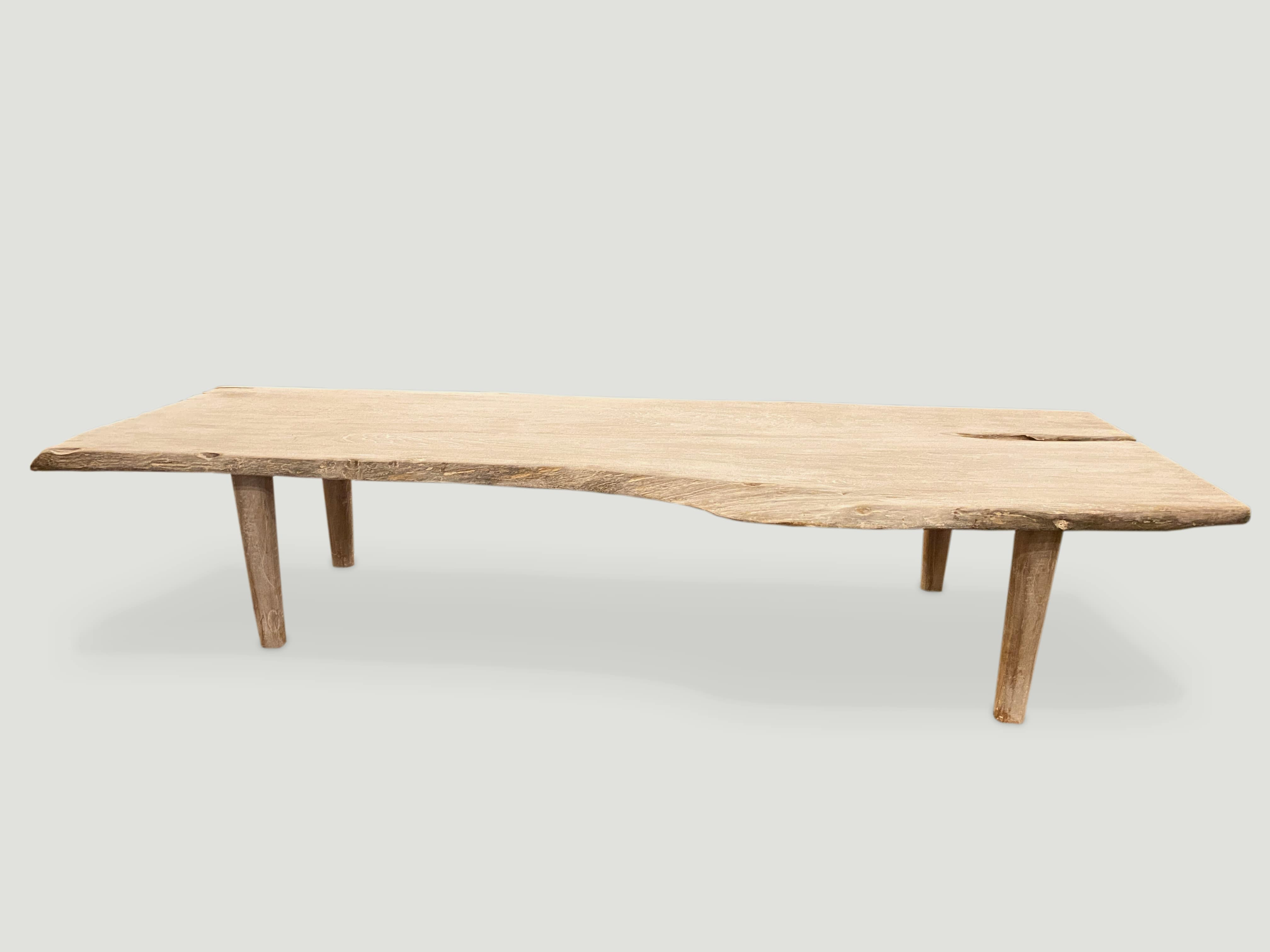 live edge teak coffee table or bench 8ml andrianna shamaris