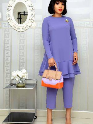 Lilac Shift Trouser Set
