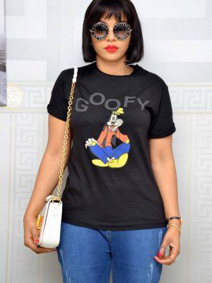 Goofy Black T-Shirt