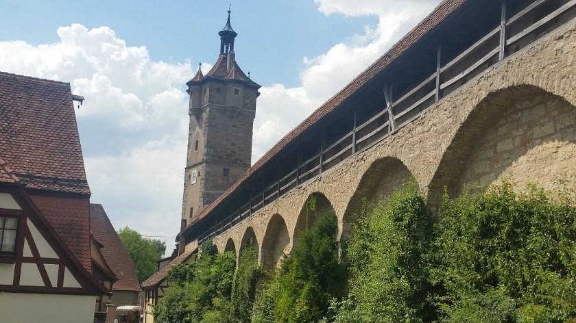 Ротенбург-на-Таубере Германия старая стена