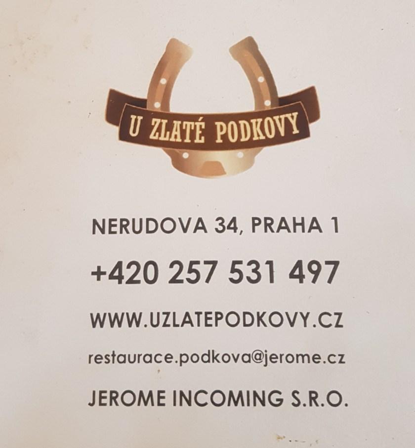 U Zlate Podkovy Прага