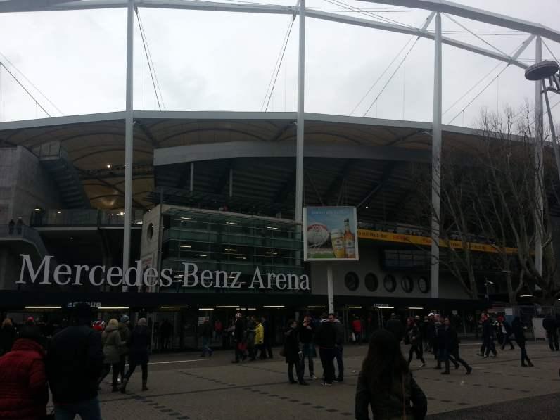 Aussenansicht der Mercedes-Benz Arena