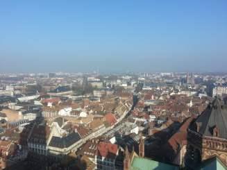 Aussicht über die Stadt vom Straßburger Münster aus