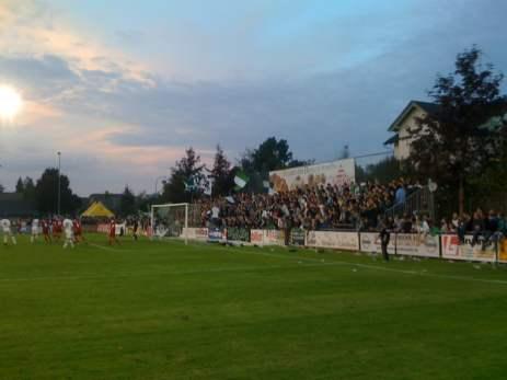 Die St. Galler Fans in Cuplaune