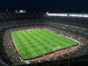 Strafraumszene in Barcelona von weit oben beobachtet