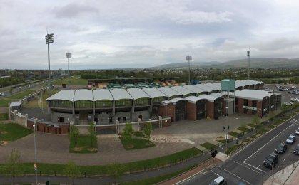 Ausblick vom Hotel auf das Stadion