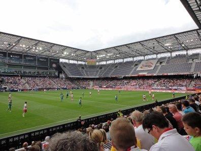 Blick auf die Heimkurve im EM-Stadion