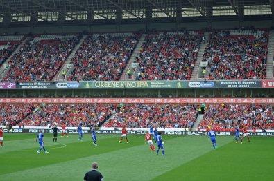 Spielszene zwischen Nottingham und Cardiff