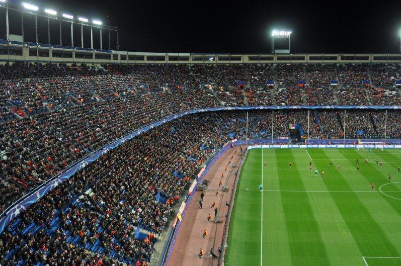 Das Vicente-Calderòn-Stadion in Madrid