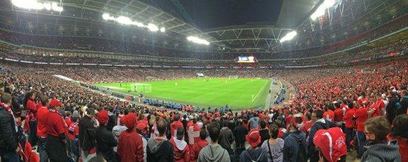 Panoramaansicht der eindrucksvollen Spielstätte