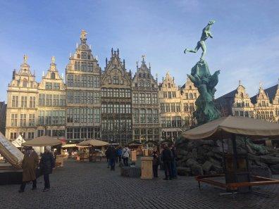 Malerische Innenstadt von Antwerpen