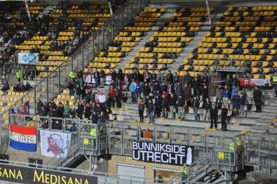 Die kleine Zahl mitgereister Fans aus Utrecht