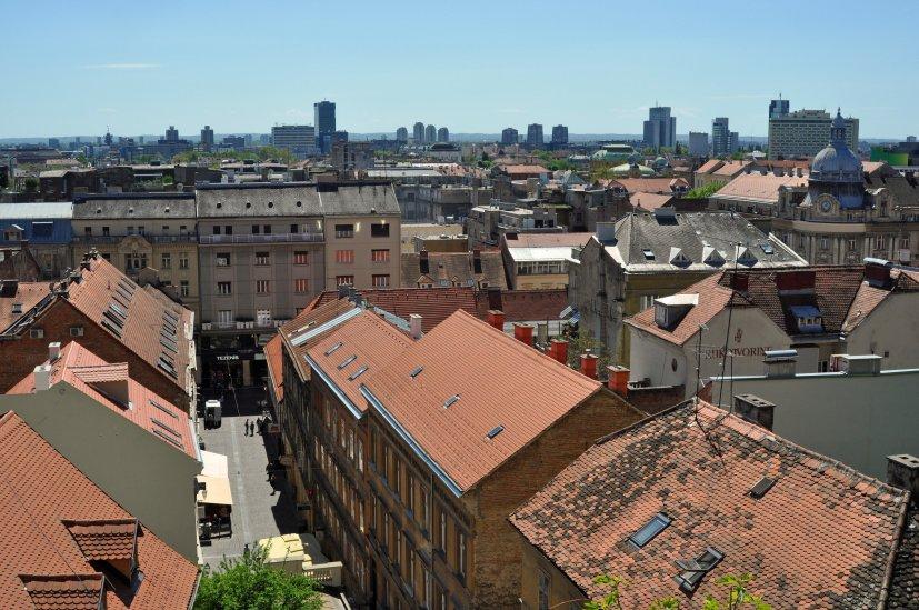 Die kroatische Hauptstadt von oben herab