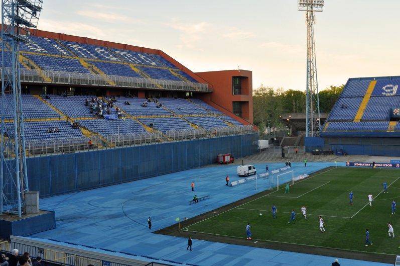DIe eigentliche Heimkurve der Zagreb-Fans