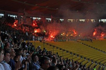 Choreoshow der Rapid Fans beim Wiener Derby