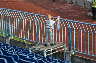 Ein junger Slovan-Zaungast