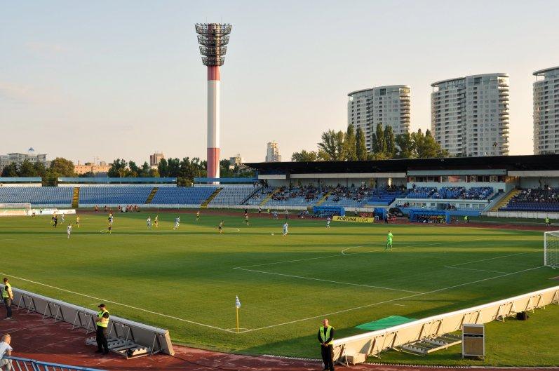 Die Haupttribüne im Stadion Pasienky