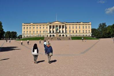 Das Schloss in der Hauptstadt Oslo
