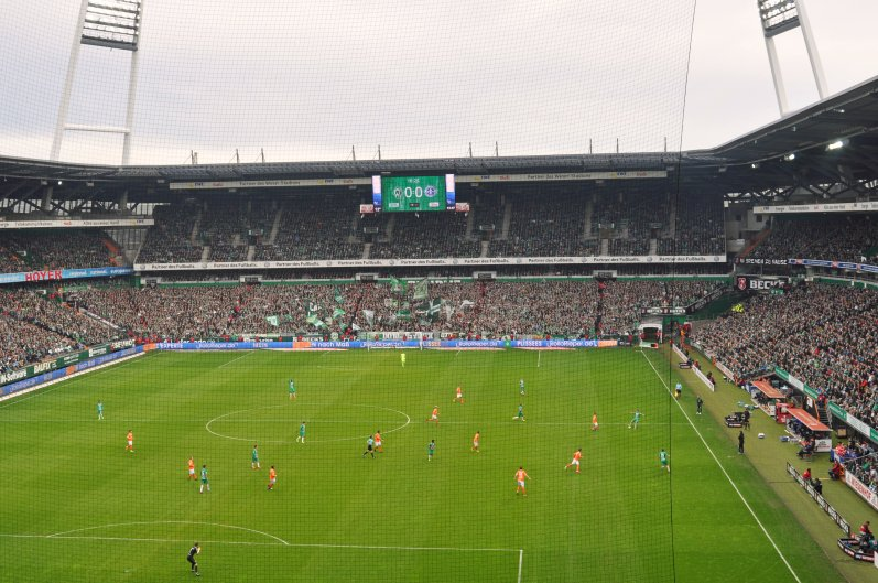 Kellerduell im Bremer Weserstadion
