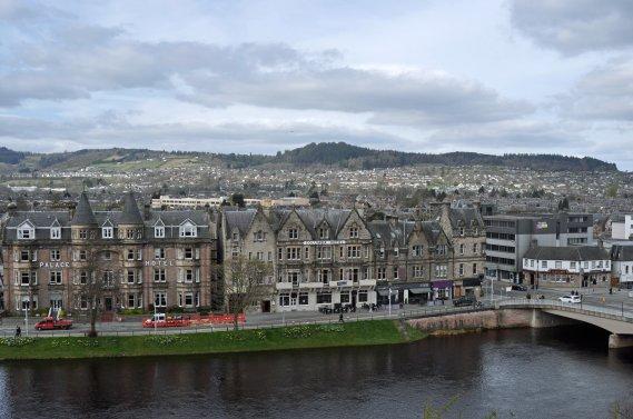 Blick über die nordschottische Stadt
