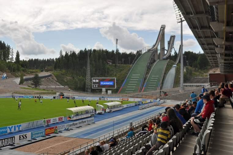 Unglaubliche Kulisse während der Erstligapartie in der finnischen Grossstadt