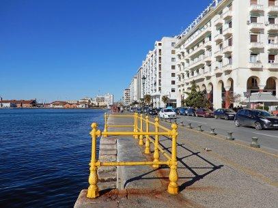 Die Uferpromenade in der Hafenstadt
